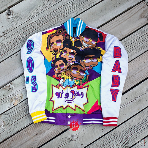White 90's Baby Bomber