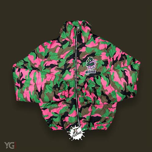 Stack Season Pink/Green Camo Coat