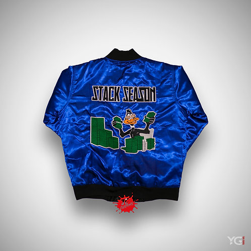 BLUE STACK SEASON BOMBER