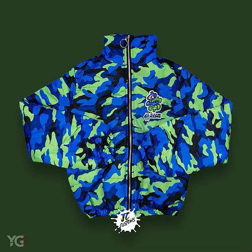 Stack Season Blue/Green Camo Coat