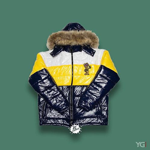 Stack Season Dog $hit Bubble Coat Navy/ Yellow