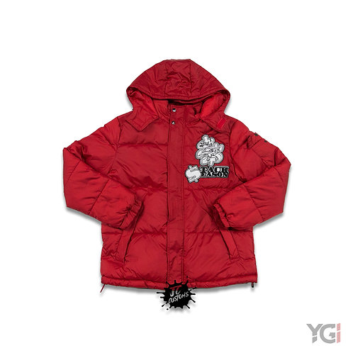 Red Stack  Season Bubble Coat