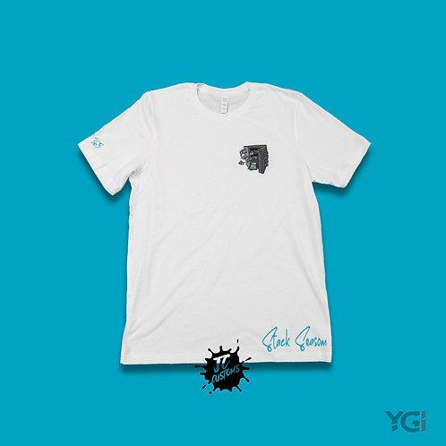 White/Aqua Stack Season T-Shirt