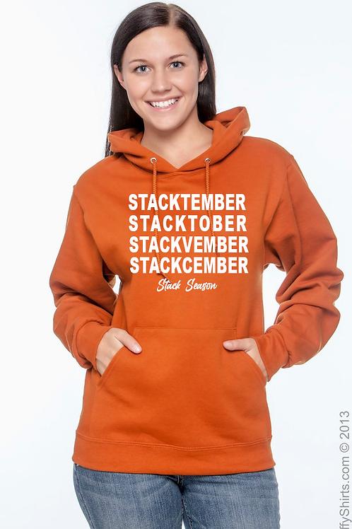 Burnt Orange Stack Season Hoodie