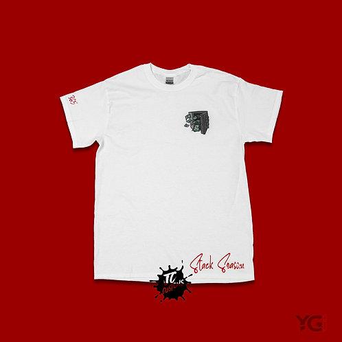White/Red Stack Season T-Shirt