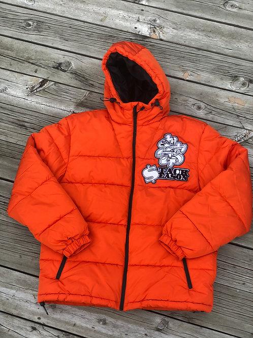 Orange Stack Season Bubble Coat