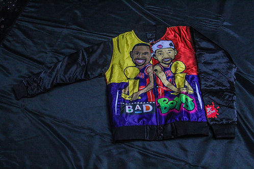 Youth Bad Boys Bomber Red/Gold/Navy