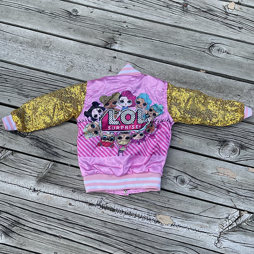 LOL DOLL BOMBER PINK/GOLD