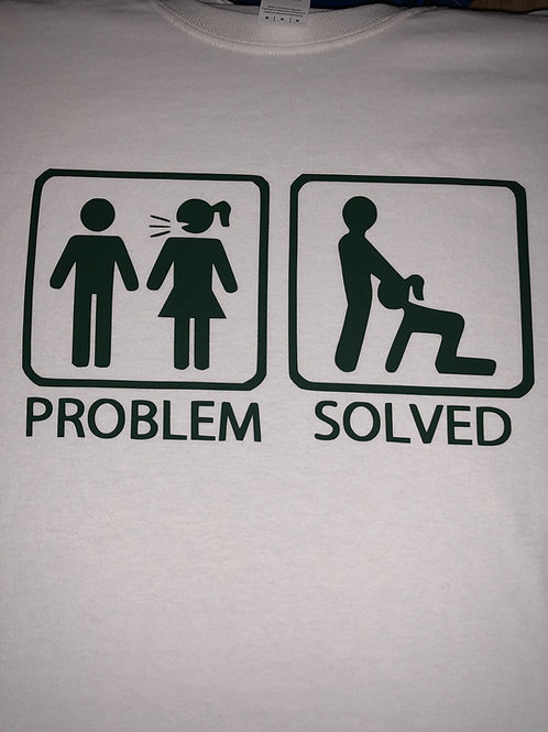 PROBLEM SOLVED WHITE AND BLACK