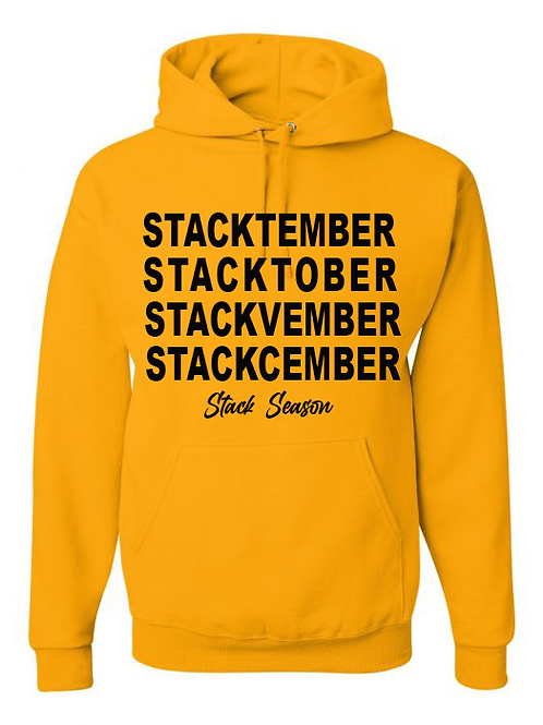 Yellow Gold Stack Season Hoodie