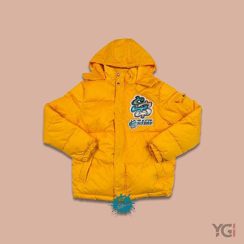 Yellow Stack Season Bubble Coat