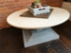 Round marble top coffee tabe