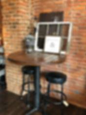 pub table rustic bar table