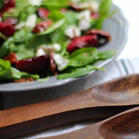 Plum, Pecan & Goat's Cheese Salad Recipe