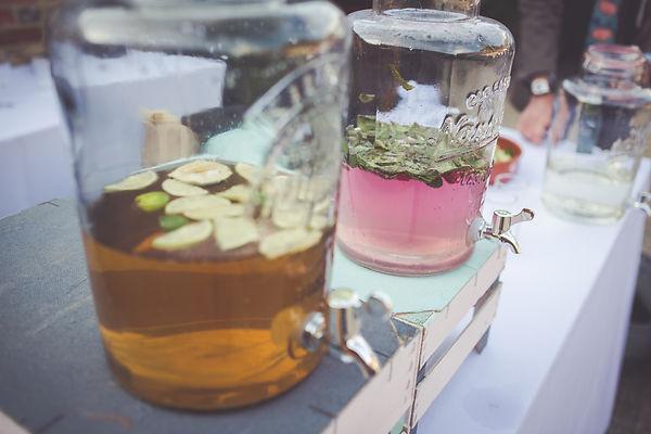 Cocktails in large drinks dispenser