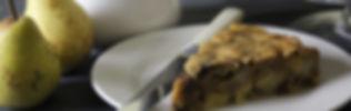 Apple cake on plate
