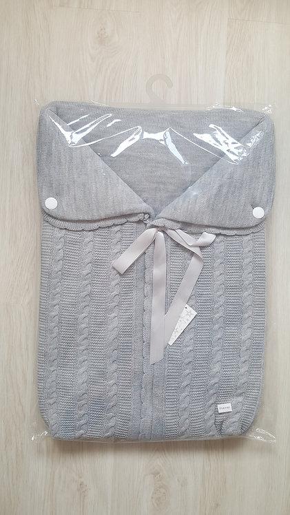 Spanish Grey Swaddle Ribbon Sac