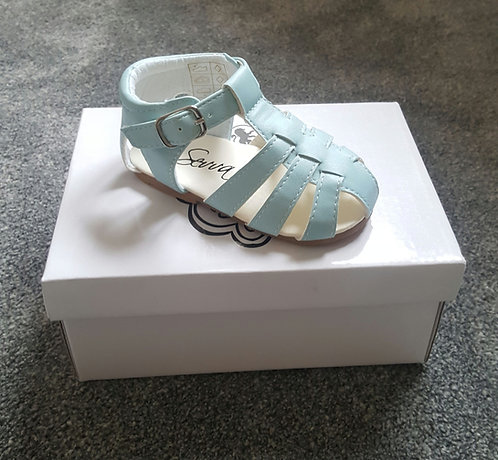 Sevva Baby Blue Buckle Hard Sole Sandals