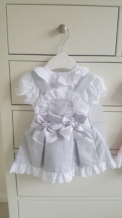Spanish Grey Bow Blouse & Dress Set