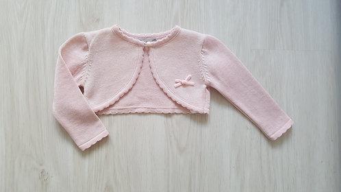 Pink Shimmer Effect Bolero Cardigan