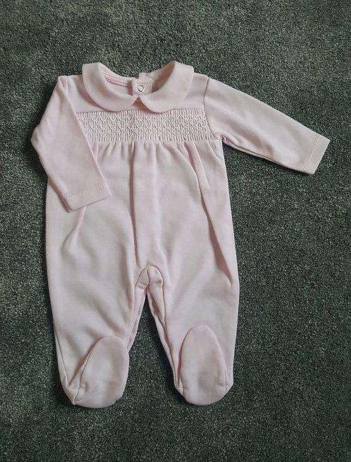 Pink Smocked Sleepsuit