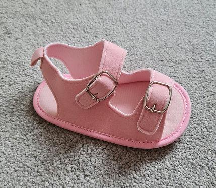 Lightweight Pink Buckle Sandals