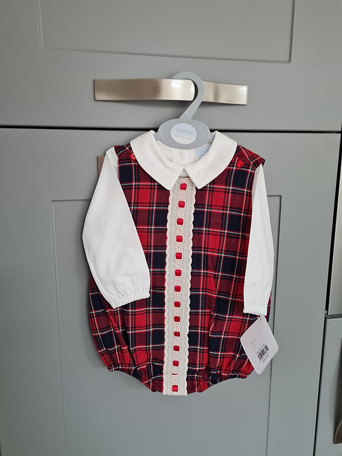 Tartan Romper & Shirt Set