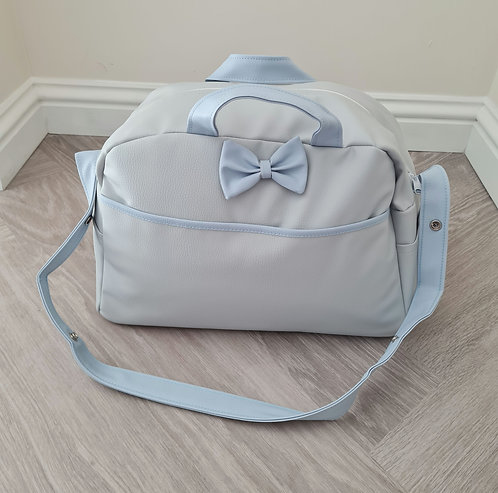 Baby Blue Bow Changing Bag