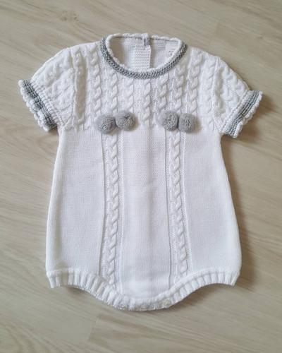 2834a1c1d White Knitted Pom Pom Romper