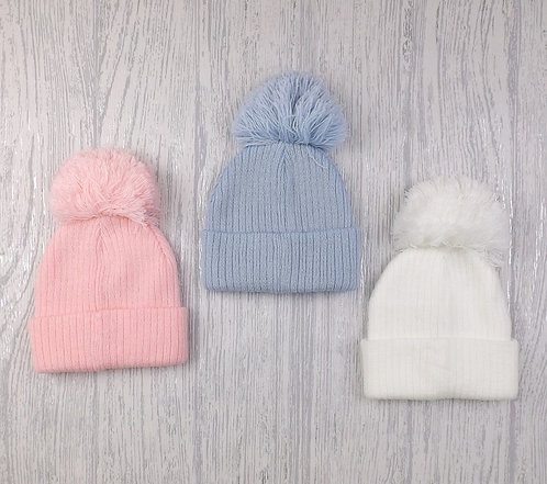 Knitting Pom Pom Hat