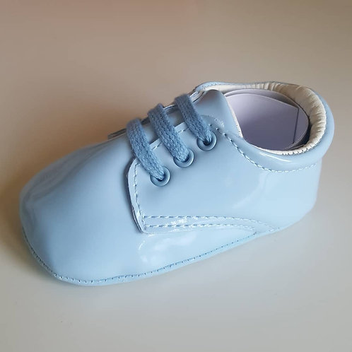 Baby Blue Soft Sole Lace Up Shoes
