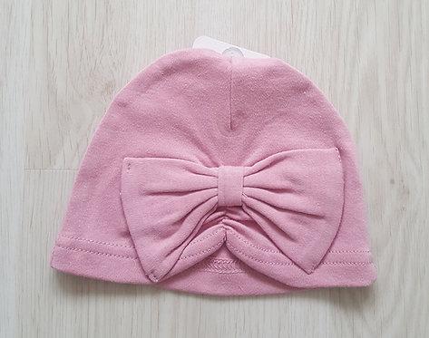Rose Pink Bow Turban Hat