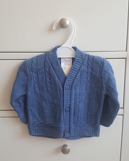 Dark Blue Knitted Cardigan