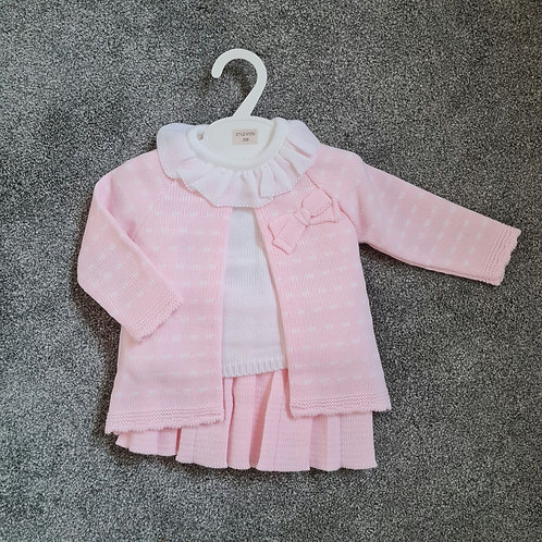 Pink Spanish Knitted 3 Piece Set