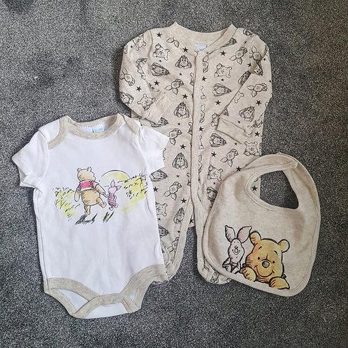 Official Winnie The Pooh Sleepsuit Set
