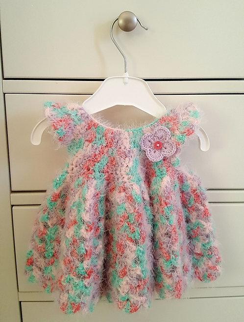 Handmade Multi-Coloured Fluffy Dress
