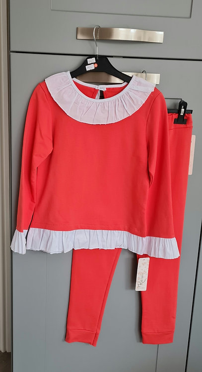 Red & White Frill Lounge Set