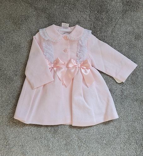 Baby Pink Ribbon Bow Jacket