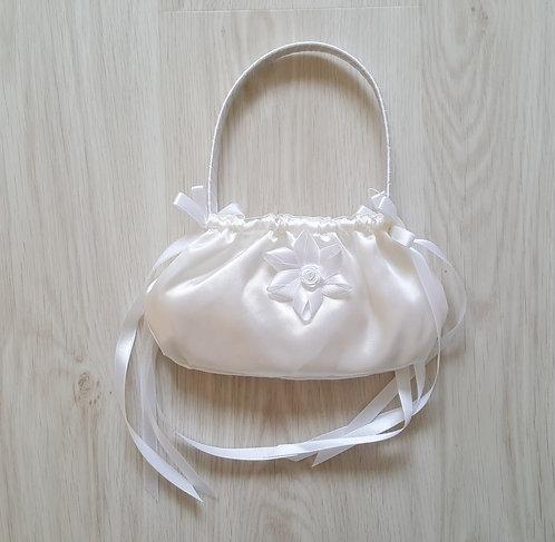 Satin Cream Flower Girl Bridesmaid Bag