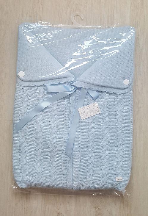 Spanish Blue Swaddle Ribbon Sac