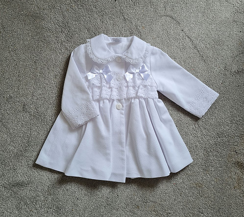 White Double Bow Lace Jacket