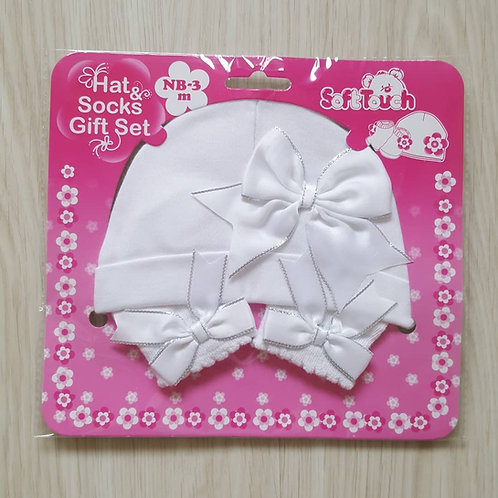Bow Hat & Socks Gift Set