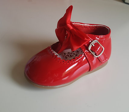 Red Hard Sole Bow Shoes