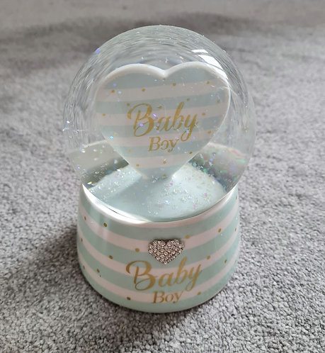 Musical Baby Boys Diamante Water Globe