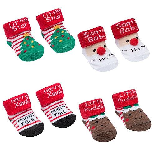 Christmas Sock Booties