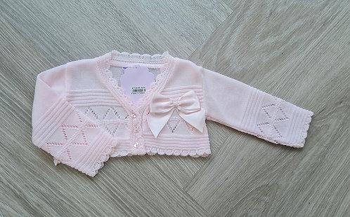 Baby Pink Bow Bolero Cardigan