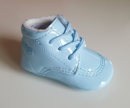 Baby Blue Soft Sole Patent Shoes