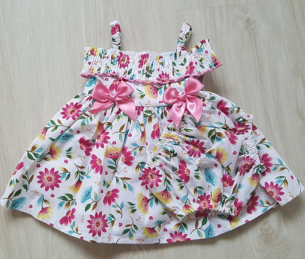 Floral Bow Summer Dress & Bloomers