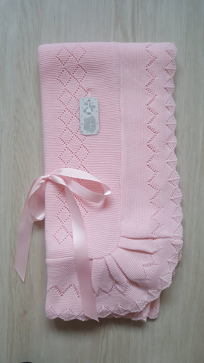 Pink Spanish Knitted Shawl