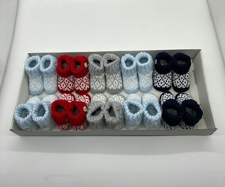 Knitted Patterned Booties